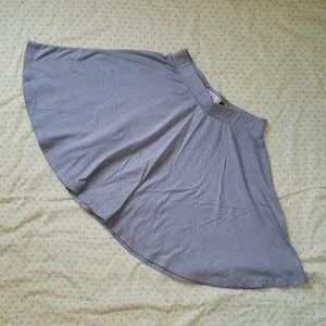 Light gray skater skirt